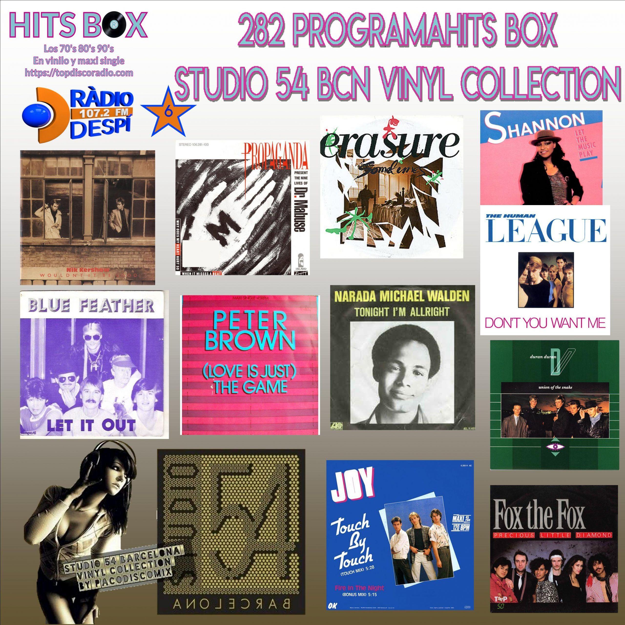 282 Programa Hits Box - Studio 54 Barcelona Vinyl Collection - Topdisco Radio - Dj Xavi Tobaja