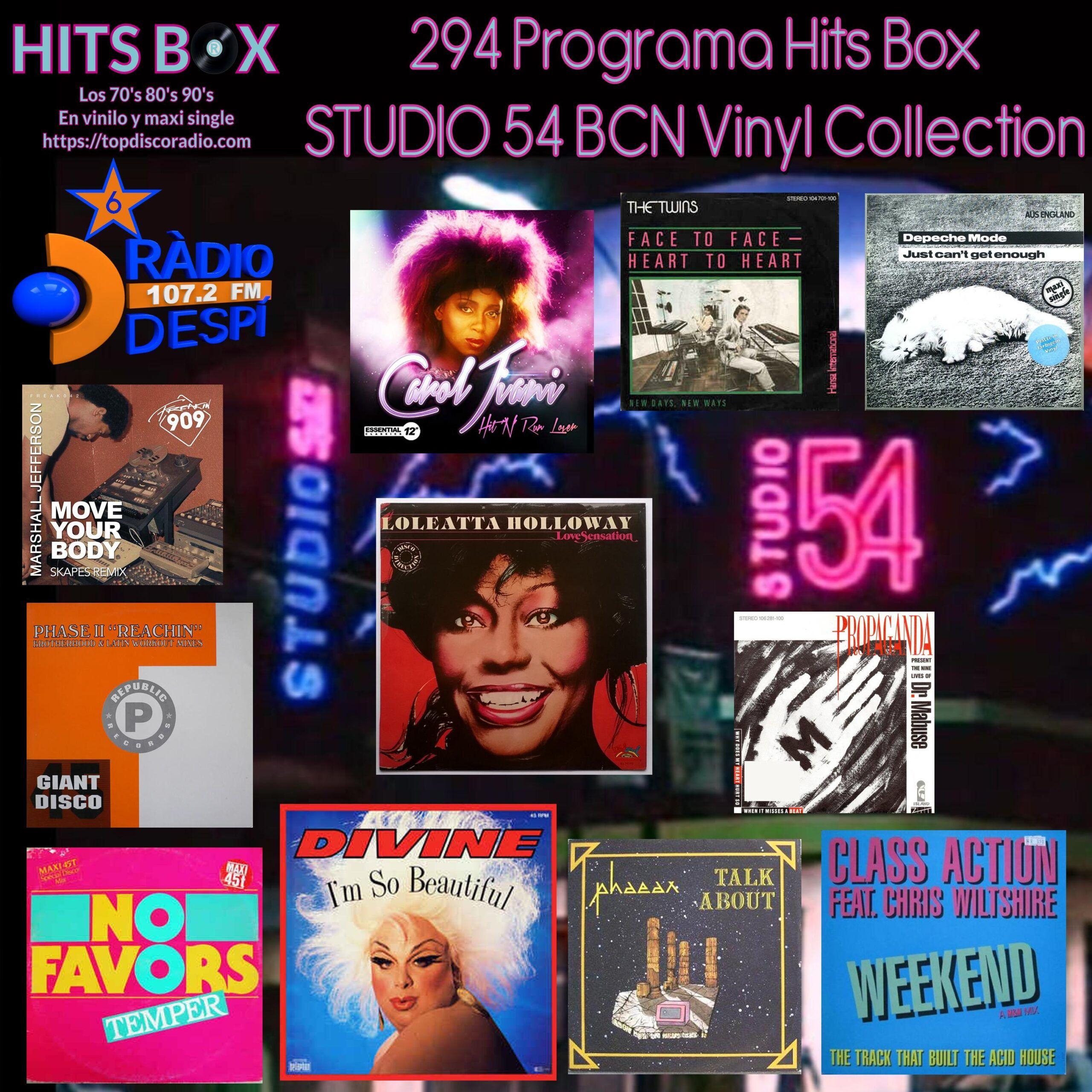 294 Programa Hits Box - Studio 54 Barcelona Vinyl Collection - Topdisco Radio - Dj. Xavi Tobaja