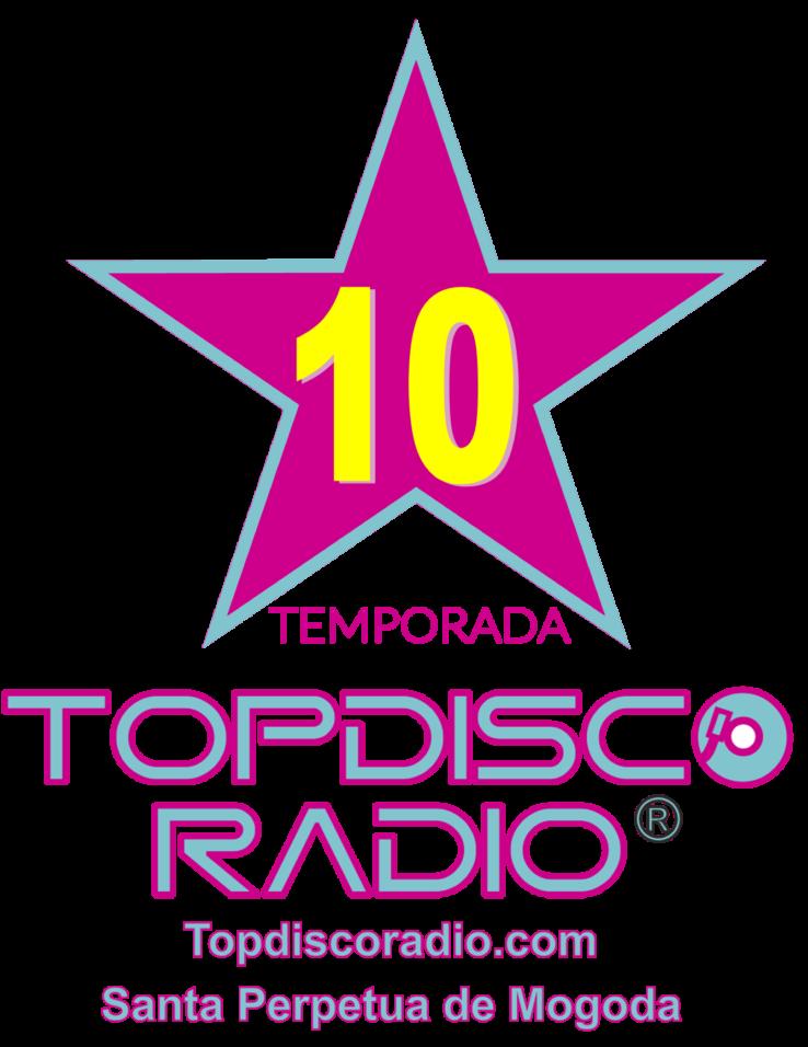 LOGO 10 TEMPORADA TOPDISCO RADIO FACEBOOK
