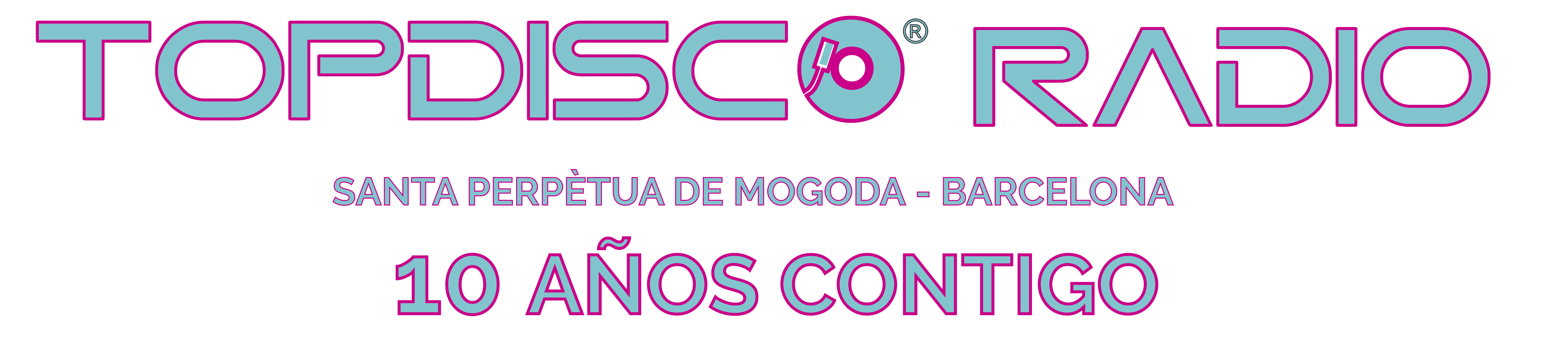 LOGO WEB TOPDISCO RADIO 10 AÑOS CONTIGO