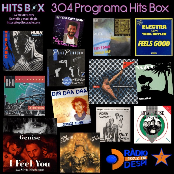 304 Programa Hits Box - Studio 54 Barcelona Vinyl Collection - Topdisco Radio - Dj. Xavi Tobaja