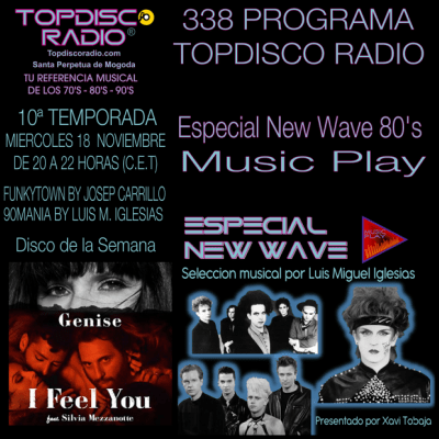 338 Programa Topdisco Radio Music Play Especial New Wave 80s - Funkytown - 90mania - 18.11.20