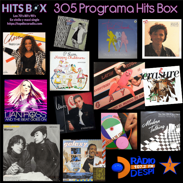 305 Programa Hits Box - Studio 54 Barcelona Vinyl Collection - Topdisco Radio - Dj. Xavi Tobaja