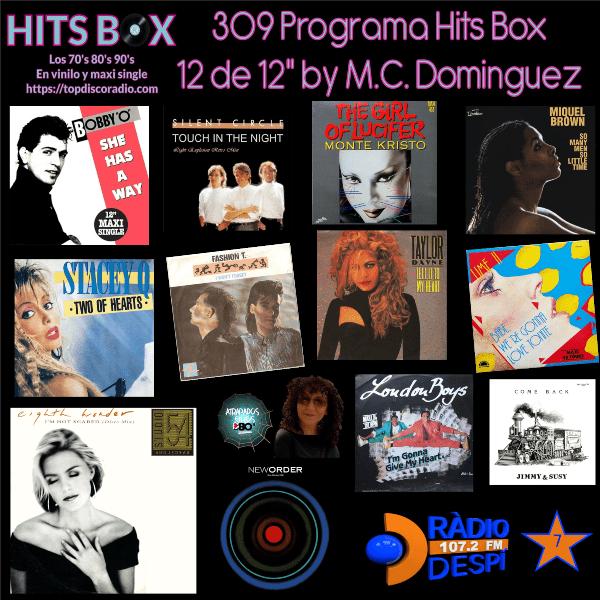 309 Programa Hits Box - Mari Cruz Dominguez - Topdisco Radio - Dj. Xavi Tobaja
