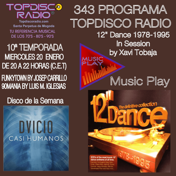343 Programa Topdisco Radio - Music Play 12 Dance 1978-1995 in session- Funkytown - 90mania - 20.01.21