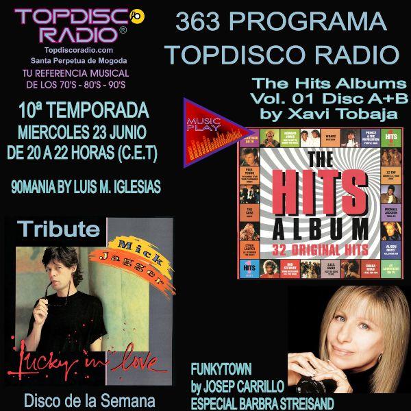 363 Programa Topdisco Radio Music Play Hits Album 01 Disc A-B - Funkytown Barbra Streisand - 90mania - 23.06.21