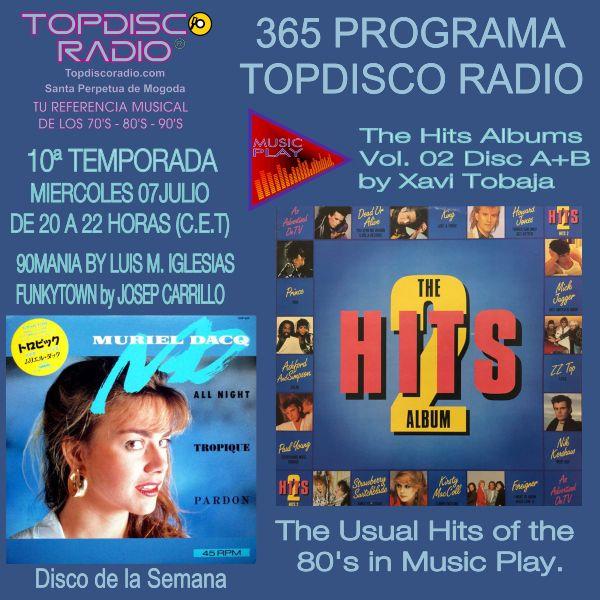 365 Programa Topdisco Radio Music Play Hits Album 02 Disc A-B - Funkytown - 90mania - 07.07.21